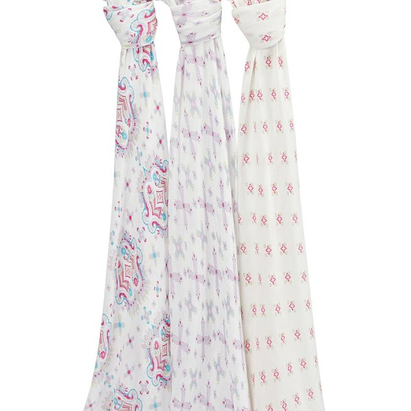 Aden + Anais Flower Child Silky Soft Swaddles