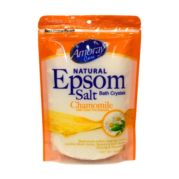 Amoray Care Chamomile with Green Tea Epsom Salt 454g