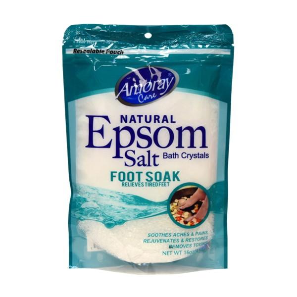 Amoray Care Eucalyptus Foot Soak Epsom Salt 454g