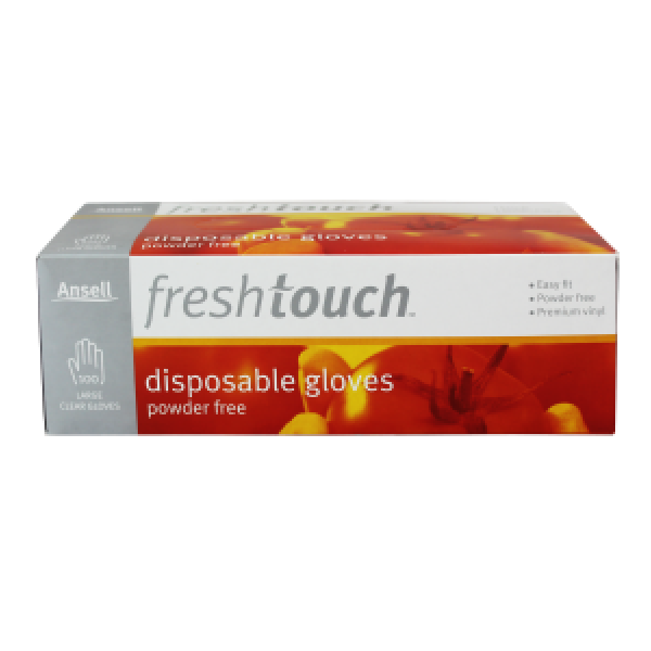 Ansell Freshtouch Powder Free Disposable Gloves Large Size Box Of 100