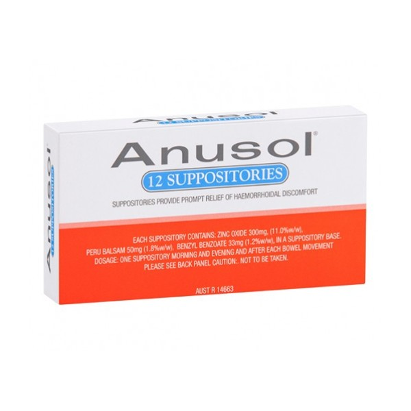 Anusol 12 Suppositories