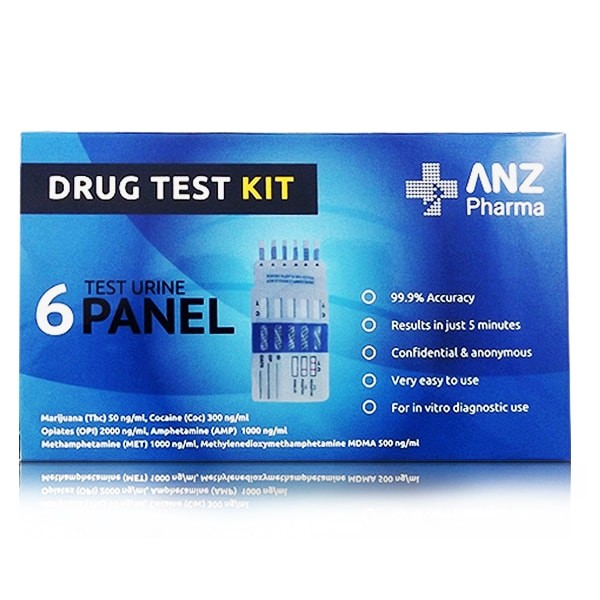 ANZ Pharma 6 Test Urine Panel Drug Test Kit