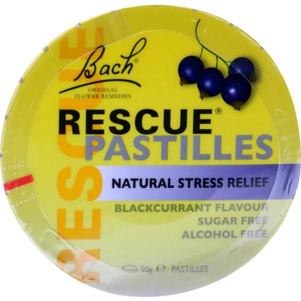 Bach Rescue Remedy Pastilles Blackcurrant Flavour 50g