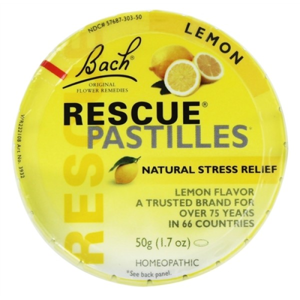 Bach Rescue Remedy Pastilles Lemon Flavour 50g