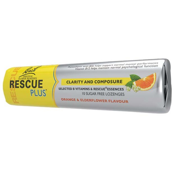 Bach Rescue Remedy Plus Lozenge Orange & Elderflower Flavour 10 Lozenges