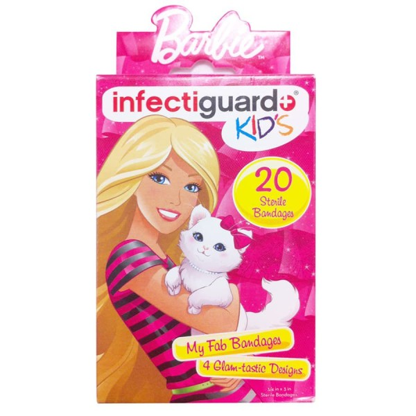 Bandaid Infectiguard Barbie Bandages Kids 20 pieces per box