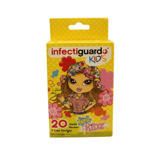 Bandaid Infectiguard Bratz Kids 20 pieces per box