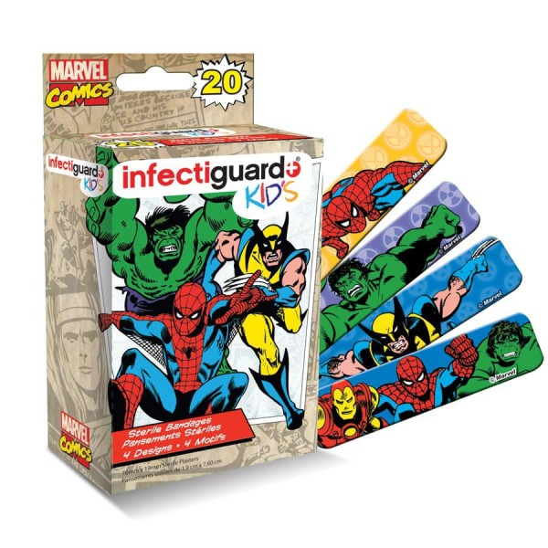 Bandaid Infectiguard Marvel Kids 20 pieces per box