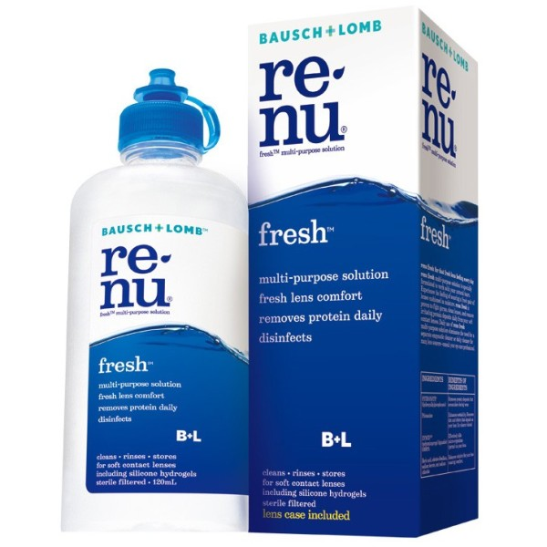 Bausch + Lomb Renu Fresh Contact Lens Solution 120ml
