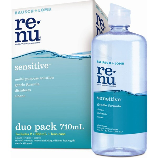 Bausch + Lomb Renu Sensitive Contact Lens Solution Duo Pack 710ml