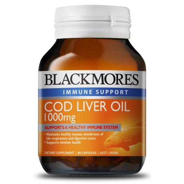 Blackmores Cod Liver Oil 1000mg 80 Capsules