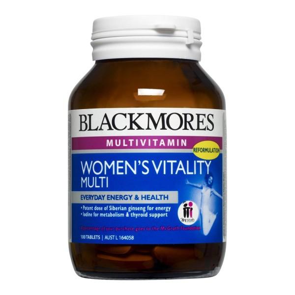 Blackmores Women's Vitality Multi 100 Tablets