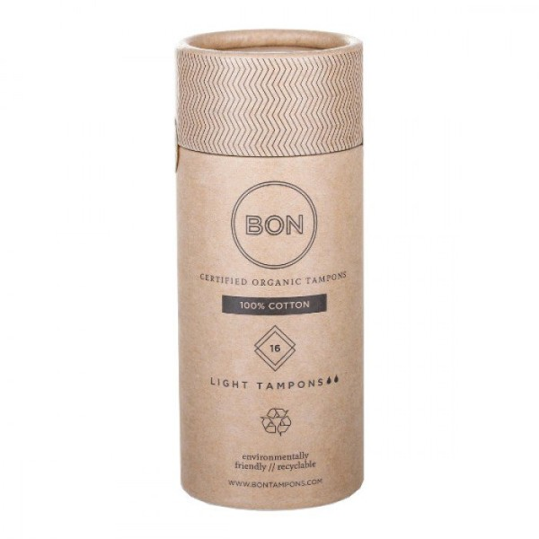 Bon Certified Organic Tampons 16s Light