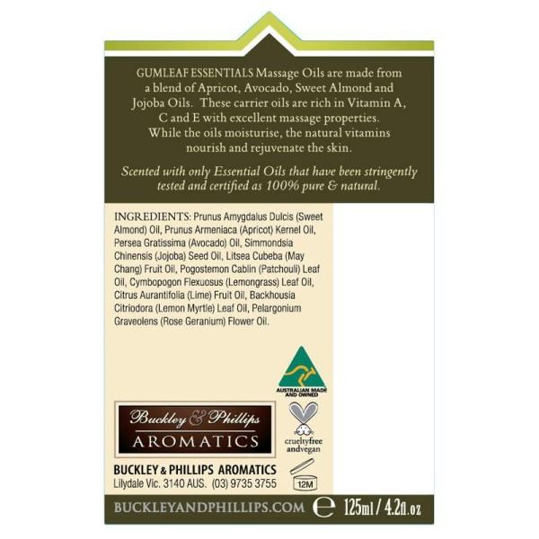 Buckley & Phillips Aromatics Indulgence Massage Oil 125ml