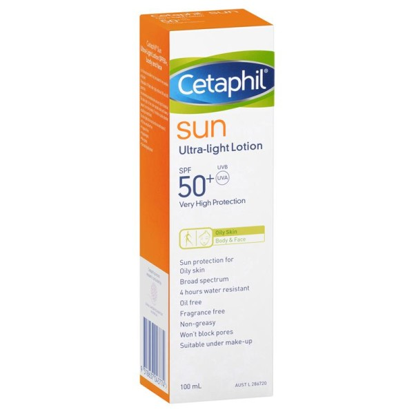 Cetaphil Sun Sunscreen SPF50+ Ultra Light Lotion 100ml