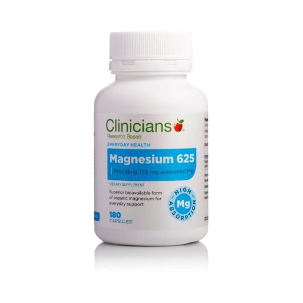 Clinicians Magnesium 625 125mg 180 Capsules
