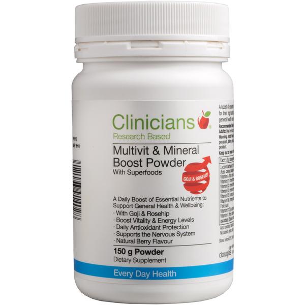 Clinicians Multivitamin & Mineral Boost Powder 150g