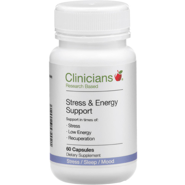 Clinicians Stress & Energy Support 60 Capsules