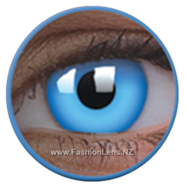 ColourVue Crazy Contact Lens Glow In Dark Blue Lens