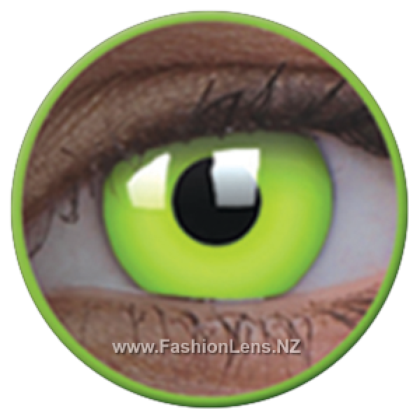 ColourVue Crazy Contact Lens Glow In Dark Green Lens