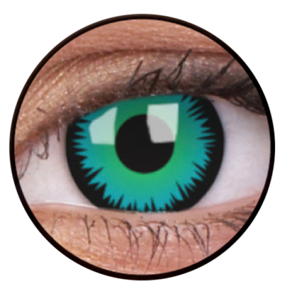 ColourVue Crazy Contact Lens Green Werewolf