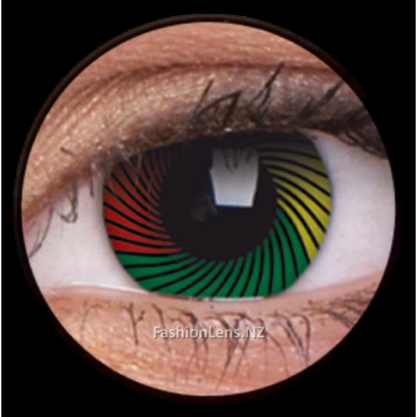 ColourVue Crazy Contact Lens Rasta