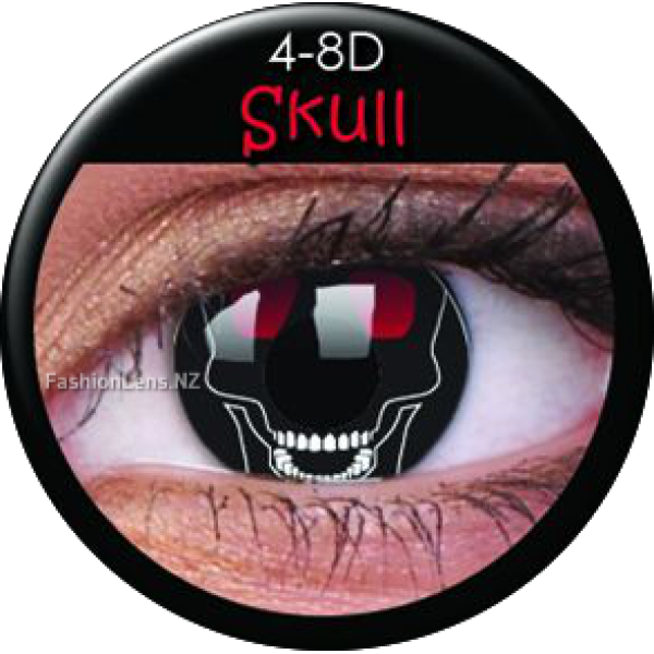 ColourVue Crazy Contact Lens Skull