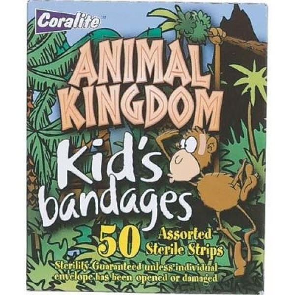 Coralite Kids Animal Kingdom Bandaid 50 pieces for box