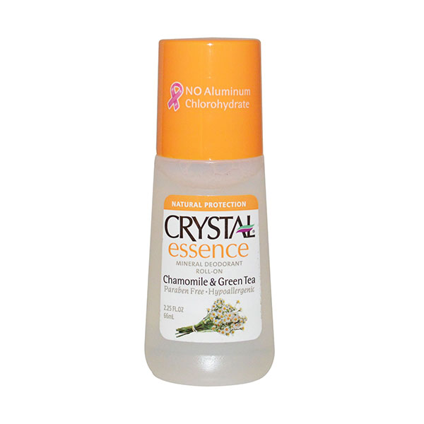 Crystal Body Mineral Deodorant Roll On Essence Chamomile & Green Tea 66ml
