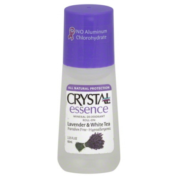 Crystal Body Mineral Deodorant Roll On Essence Lavender & White Tea 66ml