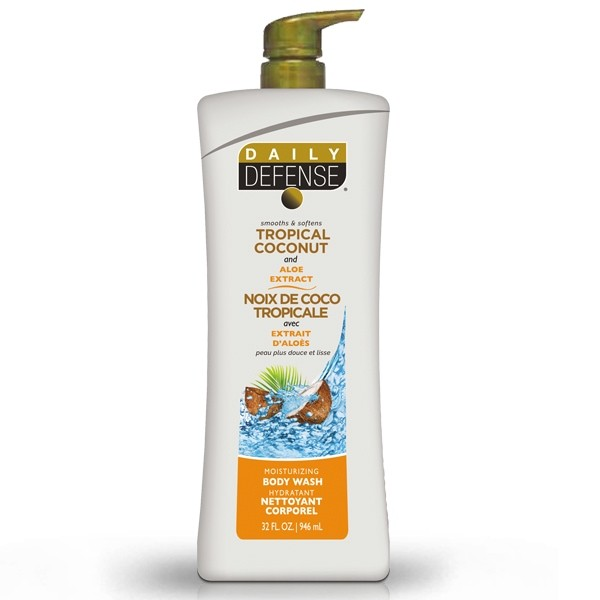 Daily Defense Tropical Coconut & Aloe Body Wash 443ml