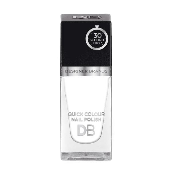 Designer Brands Quick Colour Nail Polish 15.5ml Snow White