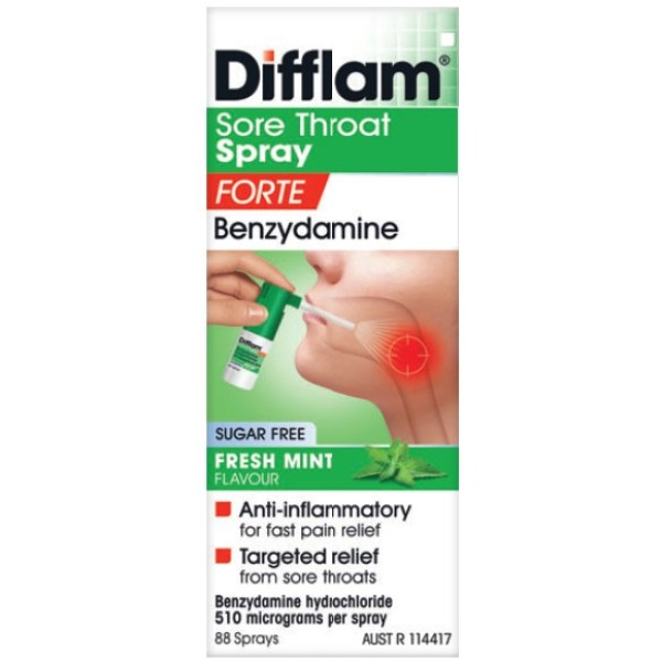 Difflam Sore Throat Spray Forte Fresh Mint Flavour 15ml