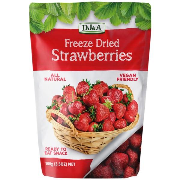 DJ&A Freeze Dried Strawberries 100g
