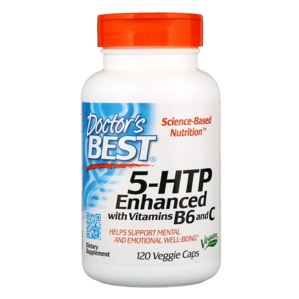 Doctor's Best 5-HTP Enhanced with Vitamins B6 & C 120 Capsules