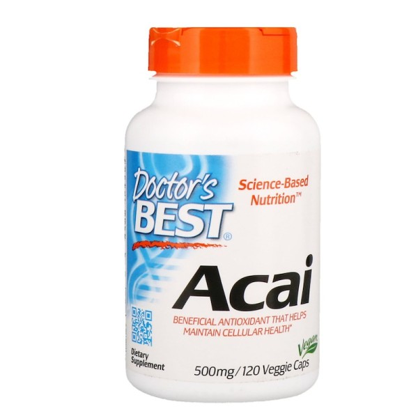 Doctor's Best Acai 500mg 120 Capsules