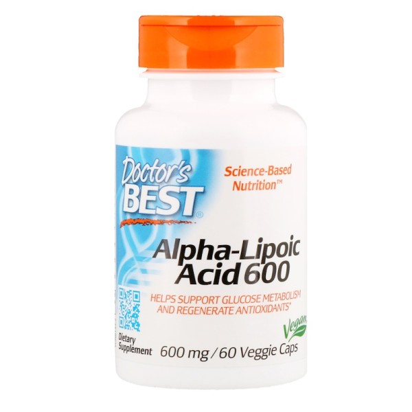 Doctor's Best Alpha-Lipoic Acid 600mg 60 Capsules