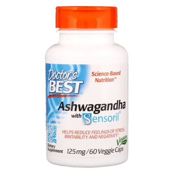 Doctor's Best Ashwagandha with Sensoril 125mg 60 Capsules