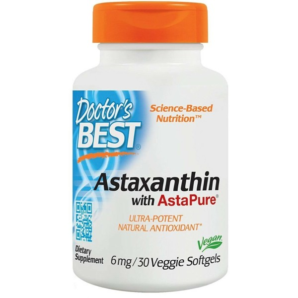 Doctor's Best Astaxanthin with AstaPure 6mg 30 Softgels