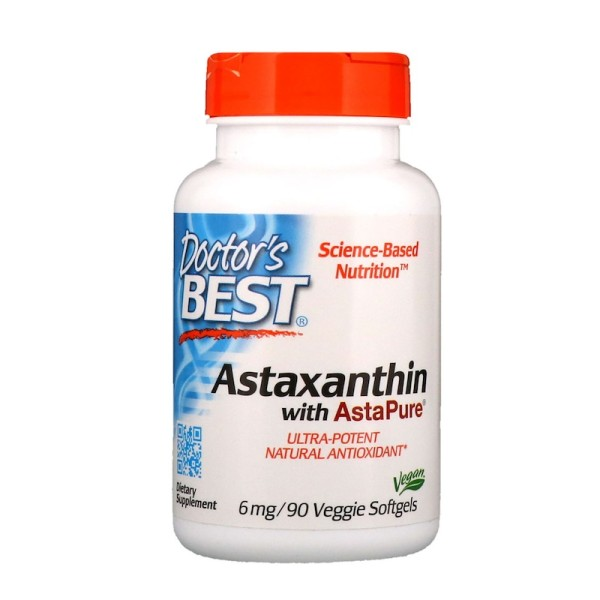 Doctor's Best Astaxanthin with AstaPure 6mg 90 Softgels