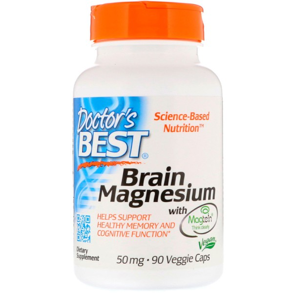 Doctor's Best Brain Magnesium with Magtein 50mg 90 Capsules