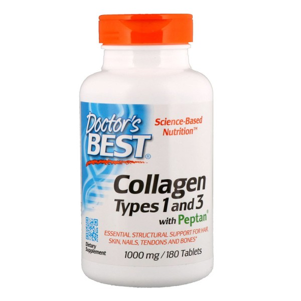 Doctor's Best Collagen Types 1 & 3 with Peptan 1000mg 180 Tablets