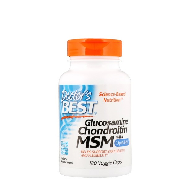 Doctor's Best Glucosamine Chondroitin MSM with OptiMSM 120 Capsules