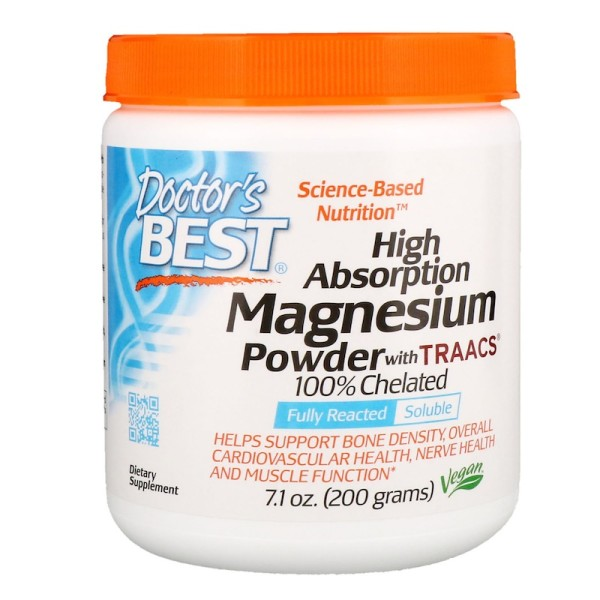 Doctor's Best High Absorption Magnesium Powder with TRAACS 100% Chelated 200g