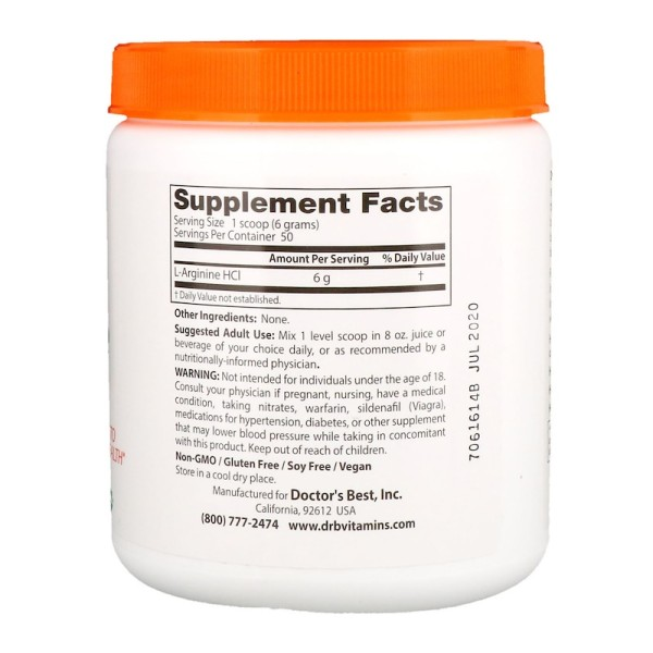 Doctor's Best L-Arginine Pure Powder 300g