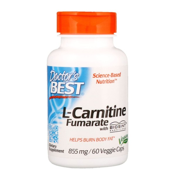 Doctor's Best L-Carnitine Fumarate with Biosint Carnitines 855mg 60 Capsules