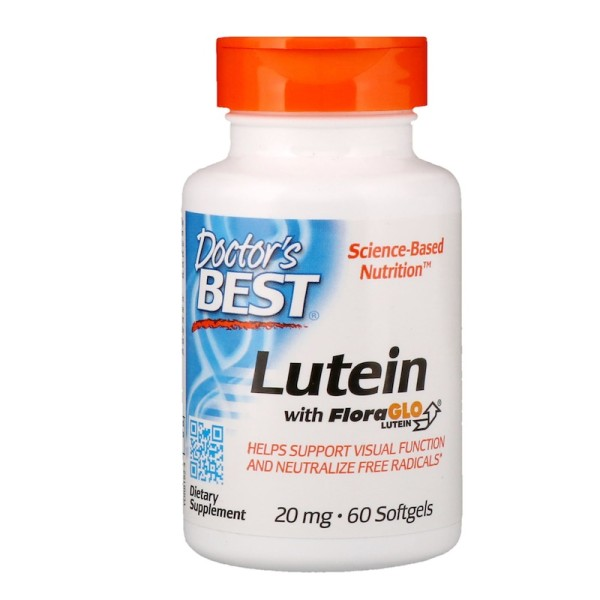 Doctor's Best Lutein with FloraGlo Lutein 20mg 60 Softgels