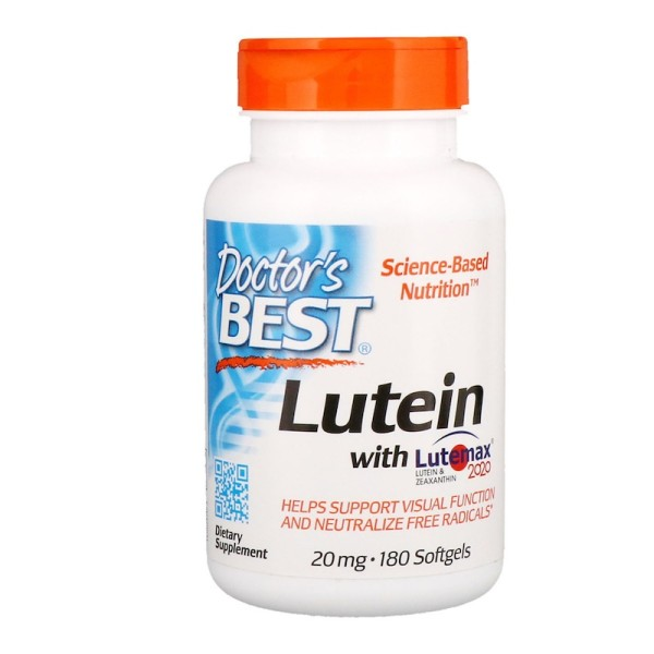 Doctor's Best Lutein with Lutemax & Meso-Zeaxanthin 2020 20mg 180 Softgels