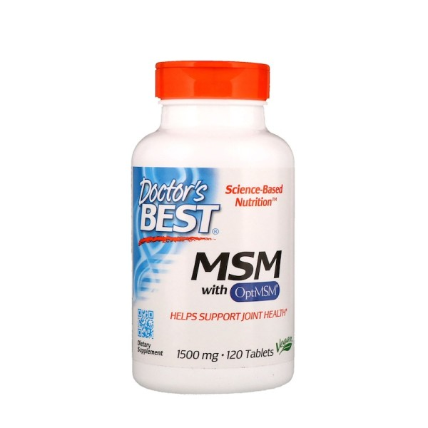 Doctor's Best MSM with OptiMSM 1500mg 120 Tablets