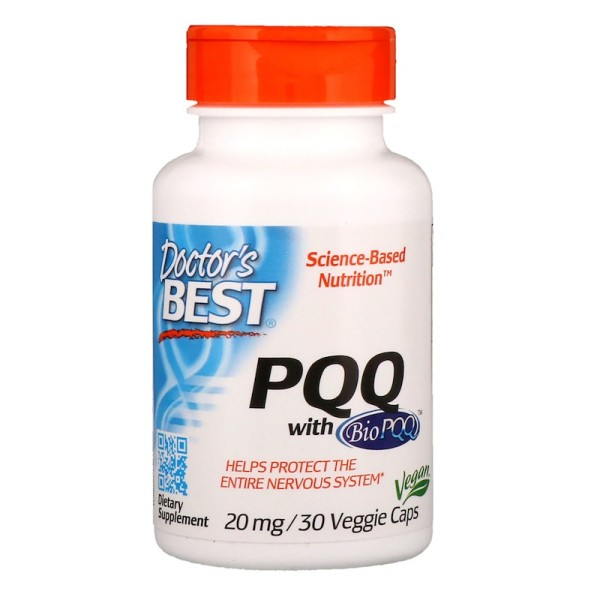 Doctor's Best PQQ with BioPQQ 20mg 30 Capsules
